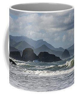 Sea Stacks And Surf Coffee Mug