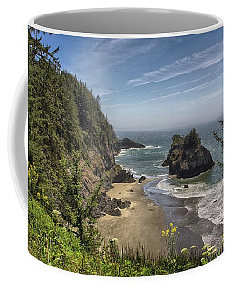 Sea Stacks And Wildflowers Coffee Mug