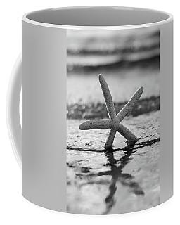 Coffee Mug featuring the photograph Sea Star Bw Vert by Laura Fasulo