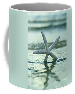 Coffee Mug featuring the photograph Sea Star Vert by Laura Fasulo