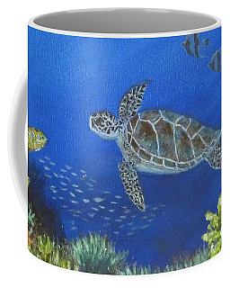 Coffee Mug featuring the painting Sea Turtle 2 by Amelie Simmons