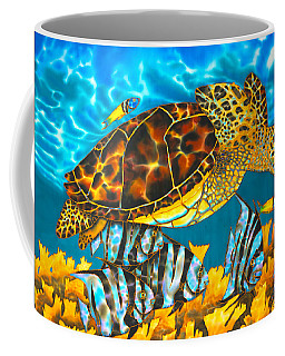 Sea Turtle And Atlantic Spadefish Coffee Mug