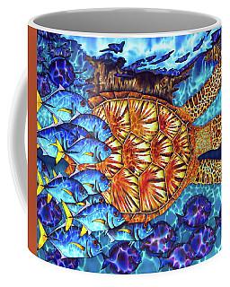 Sea Turtle And Fish Coffee Mug