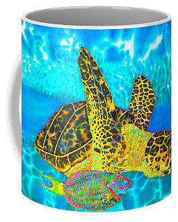 Sea Turtle And Parrotfish Coffee Mug
