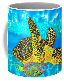 Sea Turtle And Parrotfish Coffee Mug