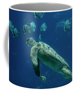 Sea Turtle Coffee Mug by Barbara Bowen