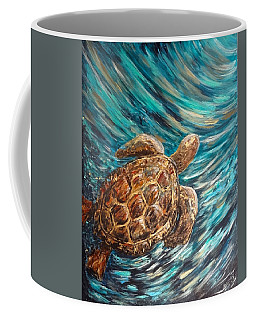 Sea Turtle Wave Guam Coffee Mug