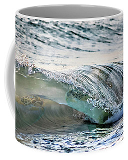 Sea Turtles In The Waves Coffee Mug by Barbara Chichester