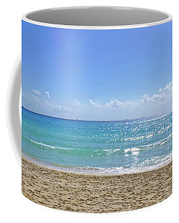 Coffee Mug featuring the photograph Sea View M2 by Francesca Mackenney