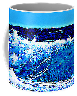 Coffee Mug featuring the digital art Sea by Zedi