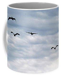 Seabirds In Flight Coffee Mug