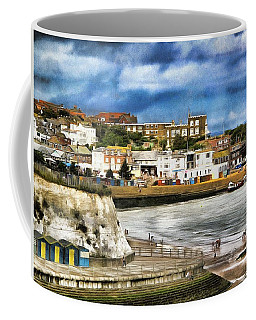 Coffee Mug featuring the photograph Seafront Broadstairs Kent by Leigh Kemp
