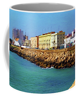 Seafront Promenade In Cadiz Coffee Mug