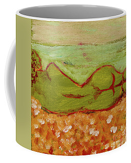 Coffee Mug featuring the painting Seagirlscape by Paul McKey