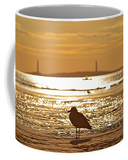 Seagull Admiring Thacher Island Gloucester Ma Good Harbor Beach Coffee Mug