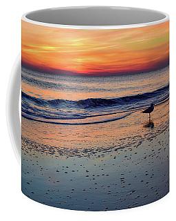 Seagull At Sunrise Coffee Mug