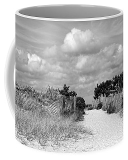 Seagull Beach Entrance B-w Coffee Mug