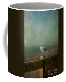 Seagull On A Fence Coffee Mug