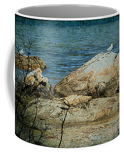 Seagull On A Rock Coffee Mug