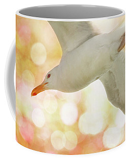 Seagull On Pink And Yellow Sky Coffee Mug