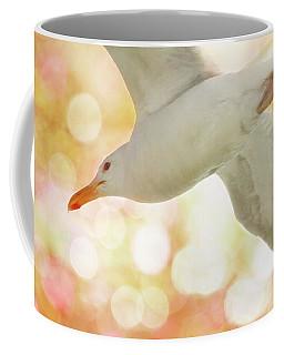 Seagull On Pink And Yellow Sky Coffee Mug