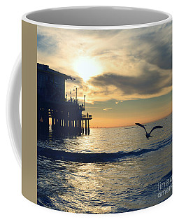 Seagull Pier Sunrise Seascape C2 Coffee Mug