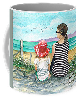 Coffee Mug featuring the photograph Seagull Survey by Val Stokes