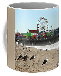 Seagulls And Ferris Wheel Coffee Mug