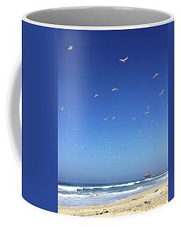 Seagulls And Pier Coffee Mug