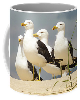 Seagulls At The Beach Coffee Mug