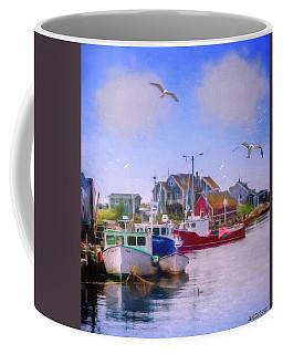 Seagulls Of Peggys Cove Coffee Mug