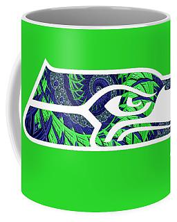 Seahawks Fractal Coffee Mug
