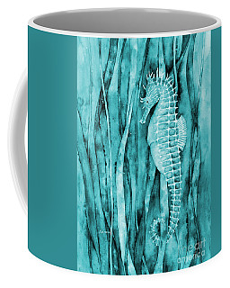 Seahorse On Blue Coffee Mug