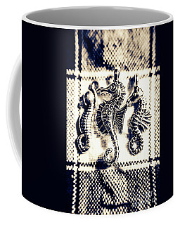 Seahorses In Blue Coffee Mug