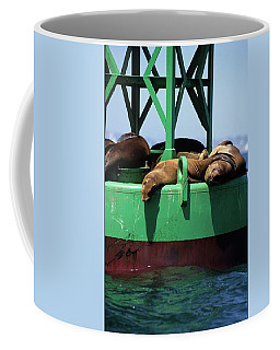 Seals On Channel Marker Coffee Mug