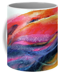 Coffee Mug featuring the painting Seams Of Color by Kathy Braud