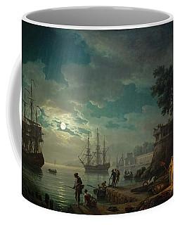 Seaport By Moonlight Coffee Mug