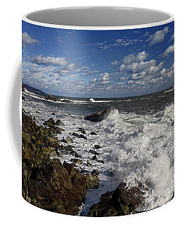 Seascape At Quoddy Head State Park Coffee Mug by Marty Saccone