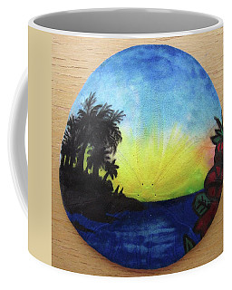 Seascape On A Sand Dollar Coffee Mug