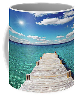 Seascape Sunrise Treasure Coast Florida Pier C6 Coffee Mug