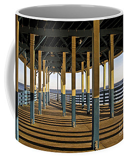 Seascape Walk On The Pier Coffee Mug