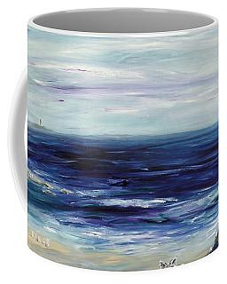 Seascape With White Cats Coffee Mug