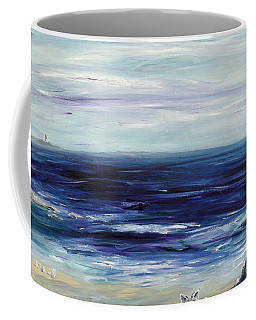 Seascape With White Cats Coffee Mug by Regina Valluzzi