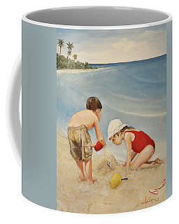 Seashell Sand And A Solo Cup Coffee Mug