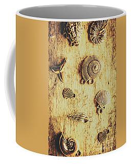Seashell Shaped Pendants On Wooden Background Coffee Mug