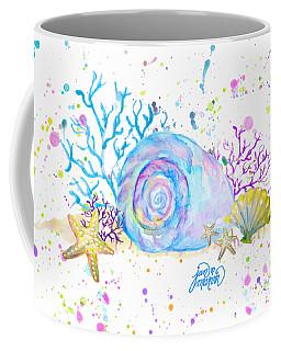 Seashells And Coral Watercolor Coffee Mug