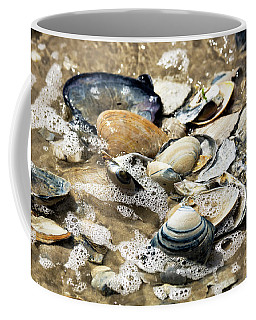Coffee Mug featuring the photograph Seashells In The Ocean by John Rizzuto