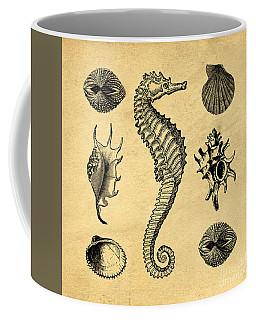 Coffee Mug featuring the digital art Seashells Vintage by Edward Fielding