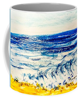 Coffee Mug featuring the painting Seashore  by Monique Faella