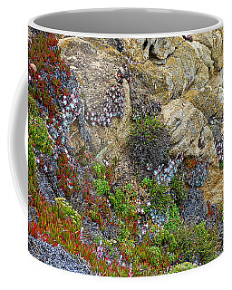Seaside Cliff Garden In Point Lobos State Reserve Near Monterey-california  Coffee Mug